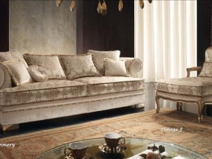 Pommery 4-sitziges Sofa beige 1