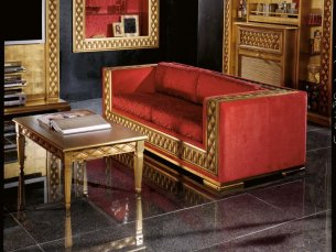Phedra glamour 3-sitziges Sofa red